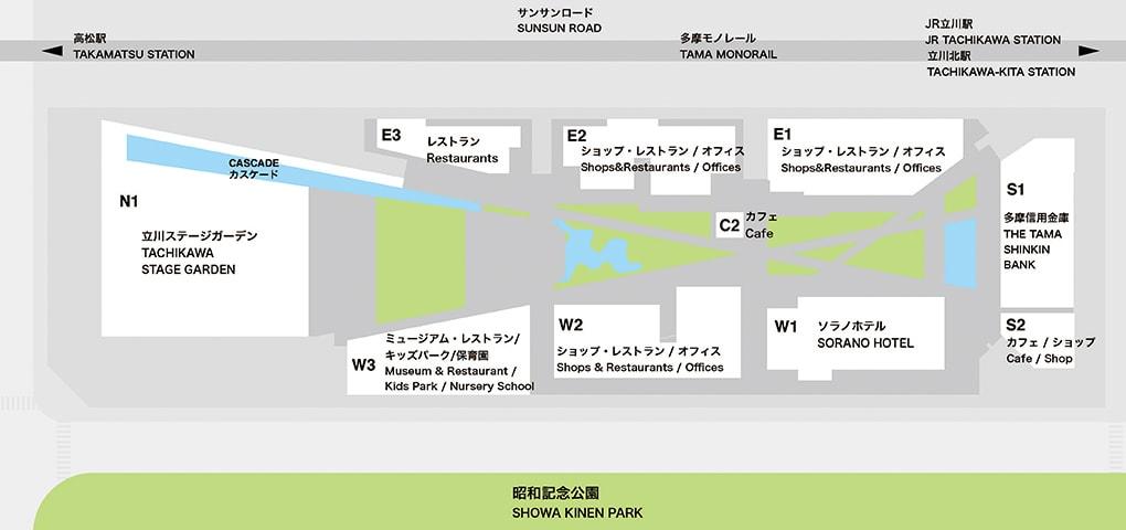 「GREEN SPRINGS(グリーンスプリングス)」施設配置図
