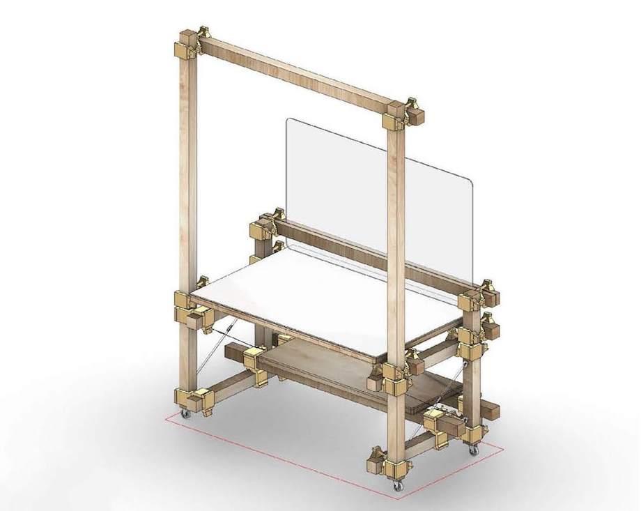 日建設計 Nikken Wood Lab「つな木」イメージ