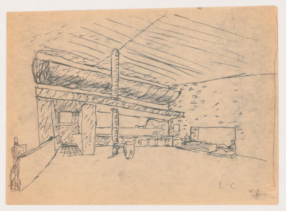 ル・コルビュジエ《内装スケッチ̶̶窓》20 世紀 カナダ建築センター蔵 Canadian Centre for Architecture, © F.L.C./ ADAGP, Paris & JASPAR, Tokyo, 2020 G2287