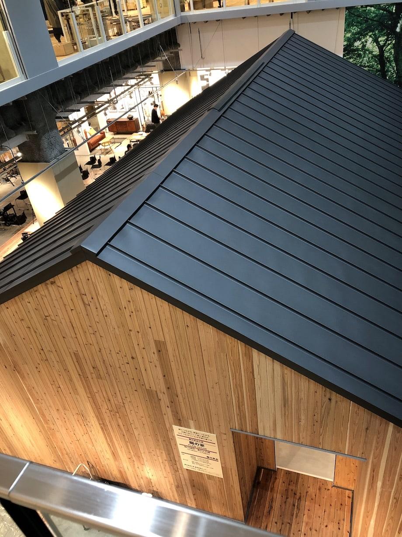 無印良品 東京有明 3Fから2F展示「陽の家」1/1モデル棟見下ろし