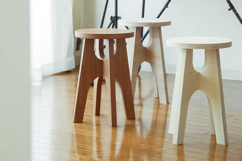 「素材の家具」スツール・ベンチ