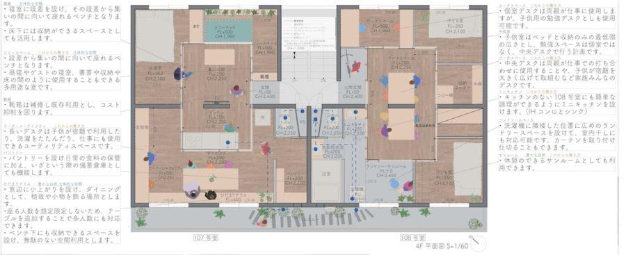 大阪府住宅供給公社主催「第6回茶山台団地リノベーションコンペ」最優秀作品(提案者:ナノメートルアーキテクチャー)