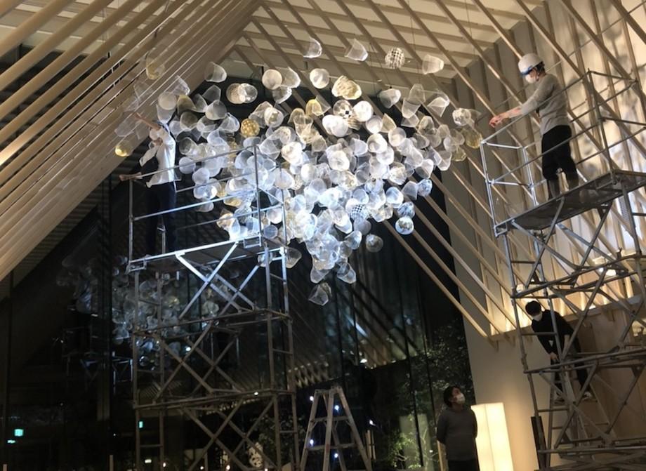 SORANO HOTEL(ソラノホテル)メインロビー〈空気の器〉インスタレーション2020-2021