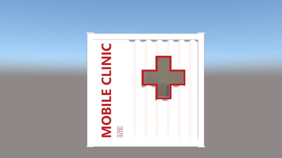 小型コンテナ診療所「モバイルクリニック™LITE」
