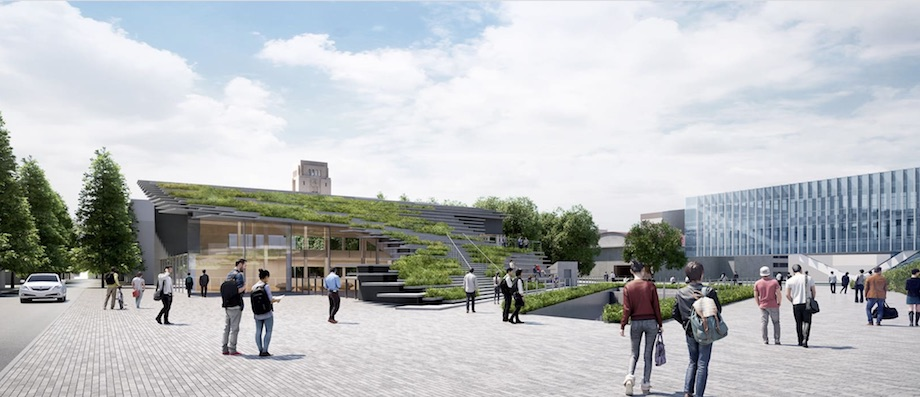 東京工業大学〈Hisao & Hiroko Taki Plaza〉完成イメージ ©︎Kengo Kuma & Associates